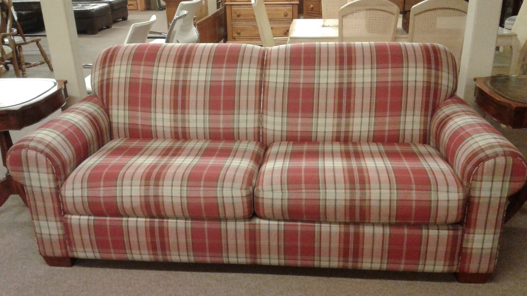 Plaid Sofas Great Color Outside The Lines Ralph Lauren Home