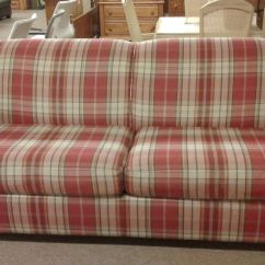 Lazyboy Leather Sofas Country Cottage Sofa Plaid | Delmarva Furniture Consignment
