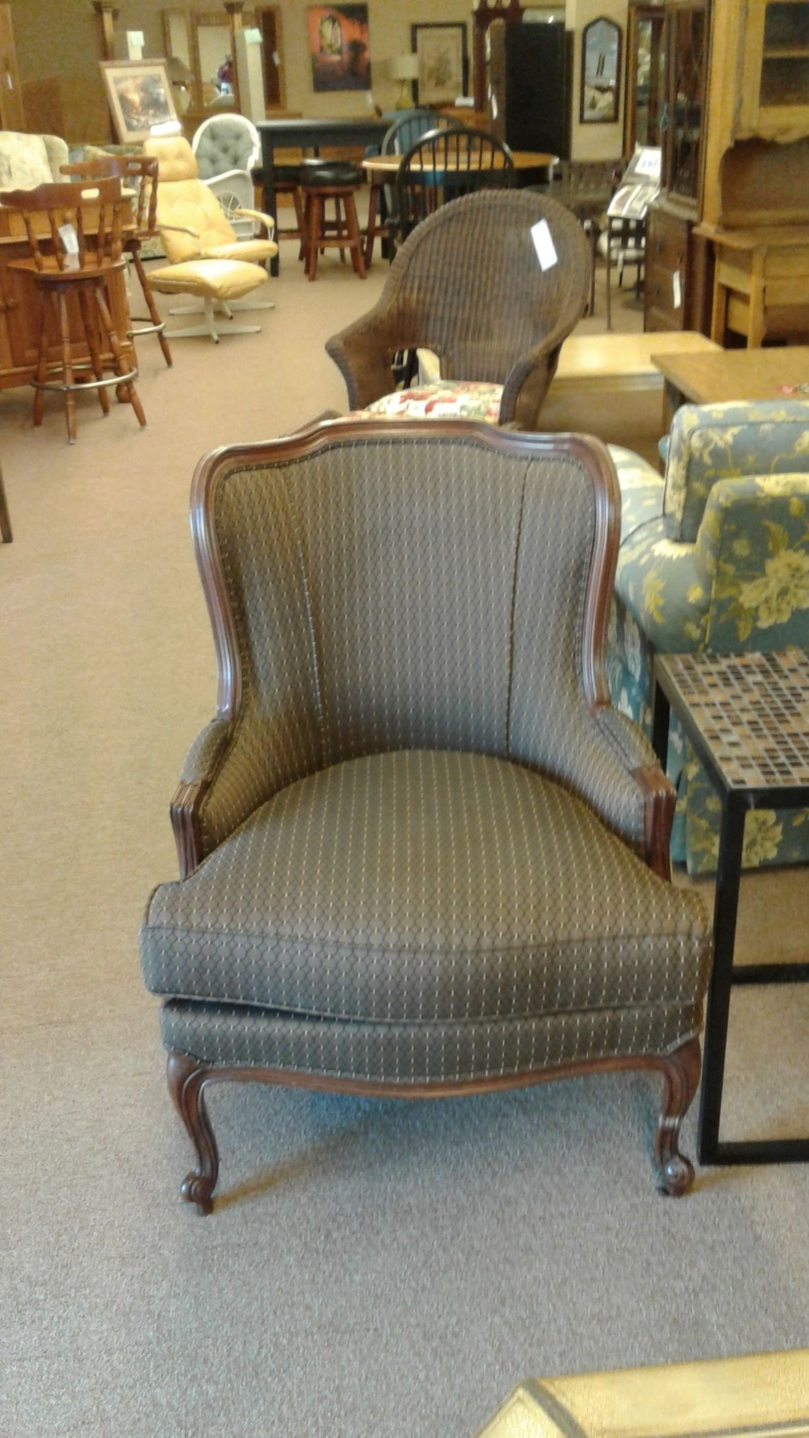ethan allen wingback chairs high chair wooden legs wing back delmarva furniture consignment