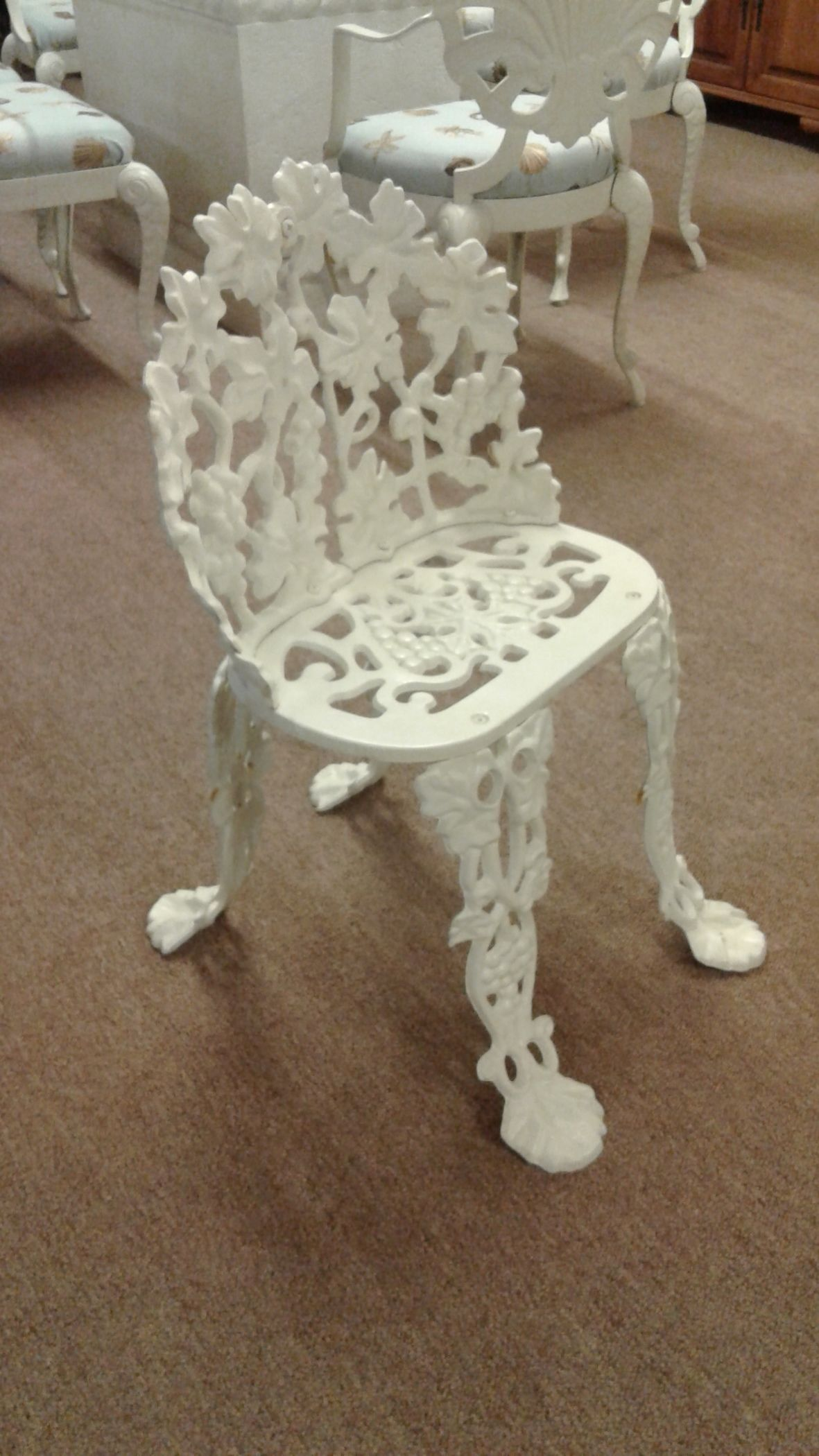 cast iron outdoor chairs fabric club uk white garden chair delmarva furniture consignment