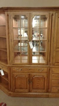 THOMASVILLE OAK CURIO CABINET | Delmarva Furniture Consignment