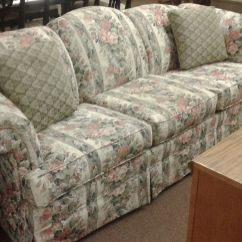 Green Floral Sofa Macys Broyhill Delmarva Furniture Consignment