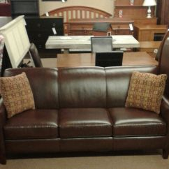 Brown Leather Sofa Uk L Shaped Living Room England Delmarva Furniture Consignment