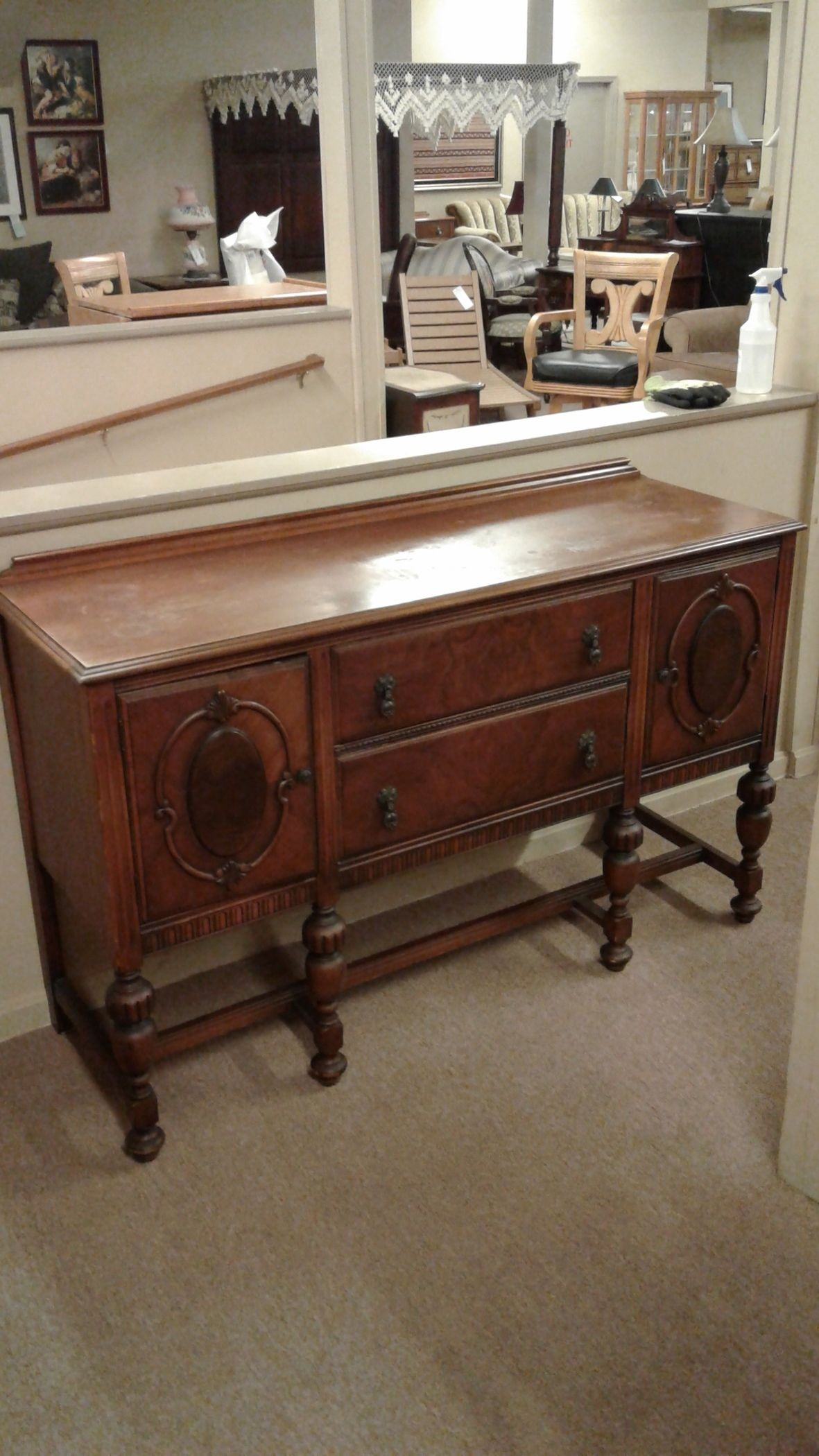 1920S ANTIQUE BUFFET Delmarva Furniture Consignment