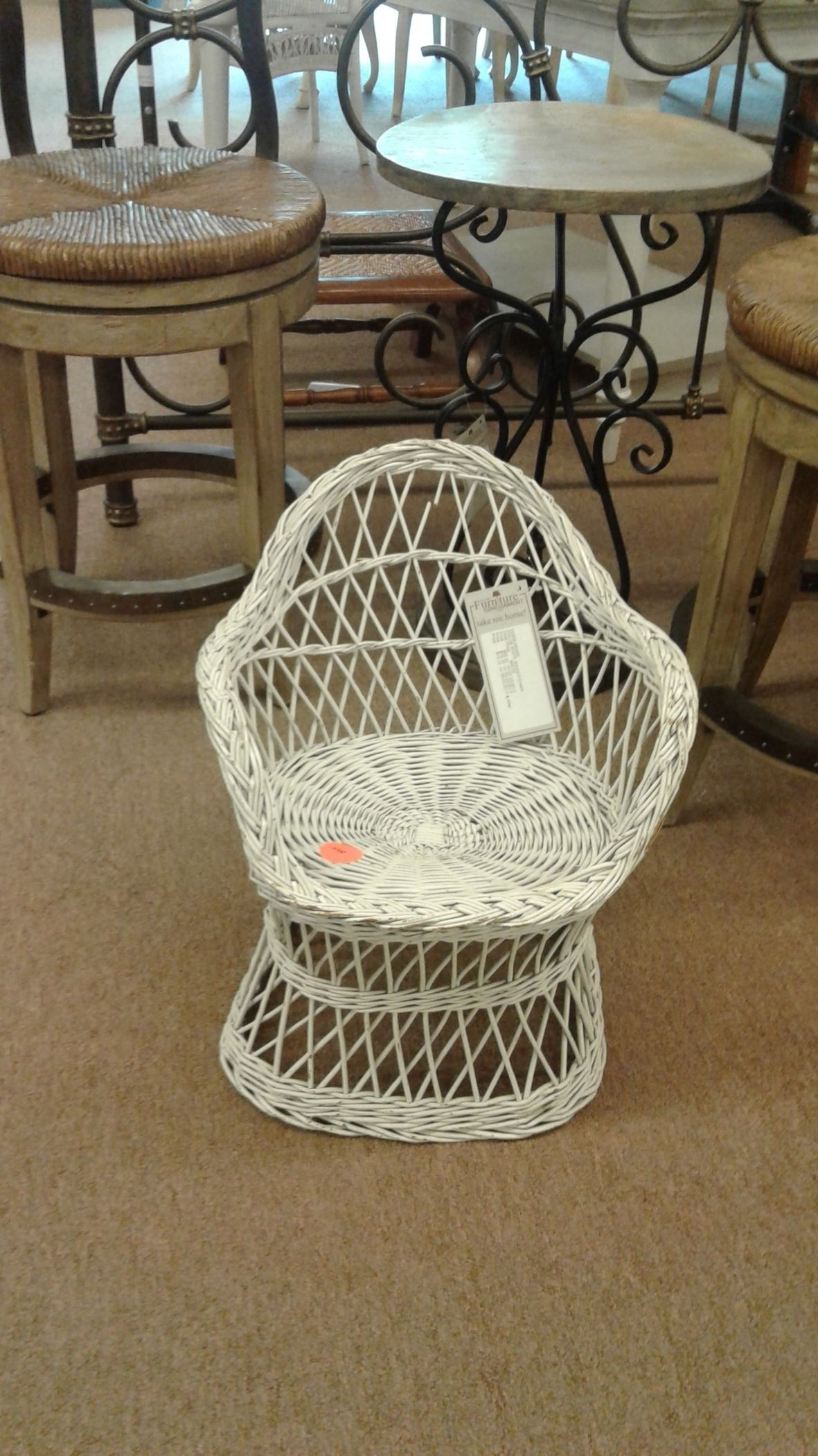 childs rattan chair how much does a stressless cost white wicker delmarva furniture consignment