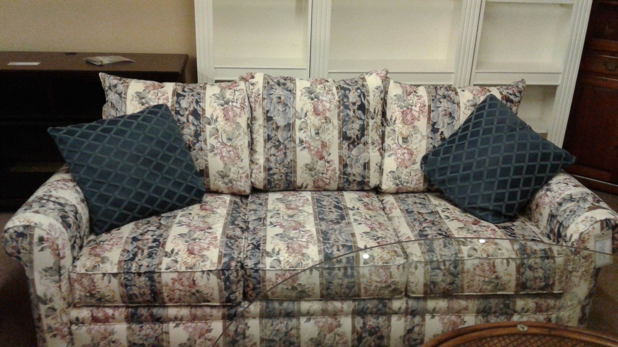 broyhill floral sofa bed without metal bars striped delmarva furniture consignment