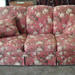 Clayton Sofa Mattress For Sleeper Red Floral | Delmarva Furniture Consignment