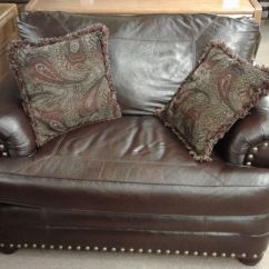 Faux Leather Chair And A Half Wing Ottoman Delmarva Furniture Consignment Medium 1503843583329 2015701104