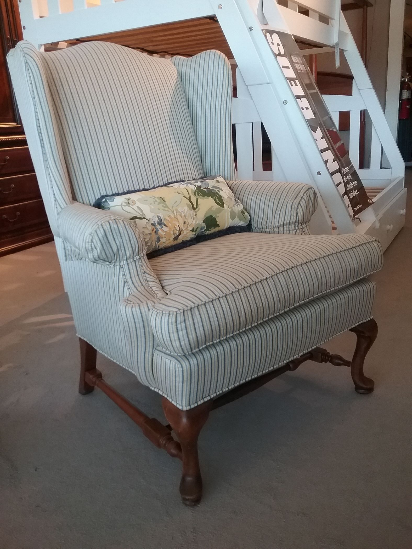 large wingback chair patio sets ethan allen | delmarva furniture consignment