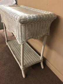 white wicker sofa table delmarva