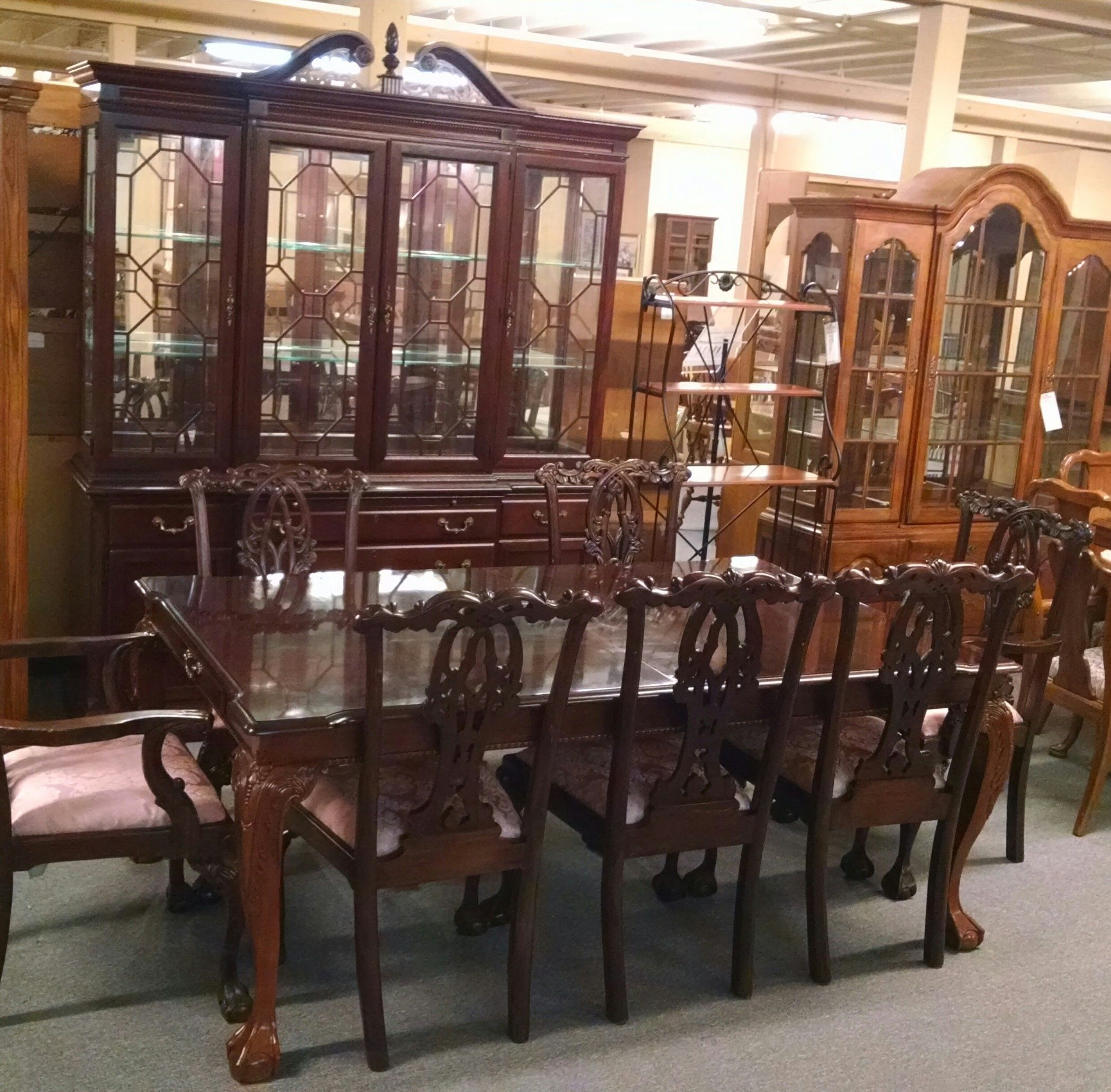 STANLEY TABLE CHAIRS AND HUTCH Delmarva Furniture