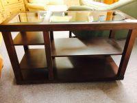 CHERRY WOOD SOFA TABLE | Delmarva Furniture Consignment