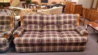 BERKLINE COUNTRY PLAID SOFA   Delmarva Furniture Consignment