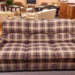 Taylor King Sofa North Carolina Furniture Leather Sofas Berkline Country Plaid   Delmarva Consignment