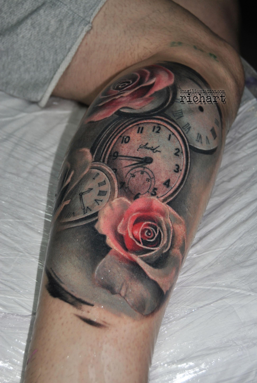 Consilium Tattoo Tattoo Relojes Tatuados Relojes Antiguos Rosas