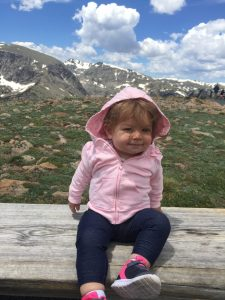 Sophie at the Rocky Mountains