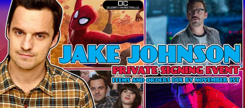 OC Celebrity Marketing Announces Private Autograph Signing Event with 'Spider-Man: Into the Spider-Verse' Star Jake Johnson