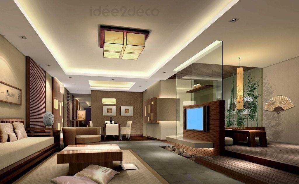 Une Déco De Salon Moderne Ambiance Zen Asiatique