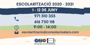 Escolarització 20-21