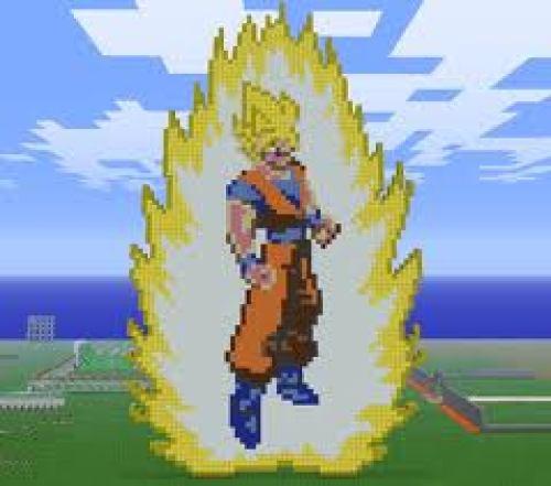 Goku en 2d en minecraft