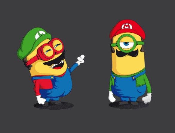 Minion Mario y Luigi