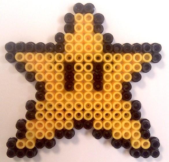 Hama Beads Estrella Super Mario