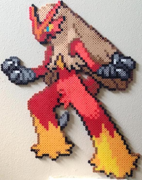 Hama Beads Pokémon Blaziken
