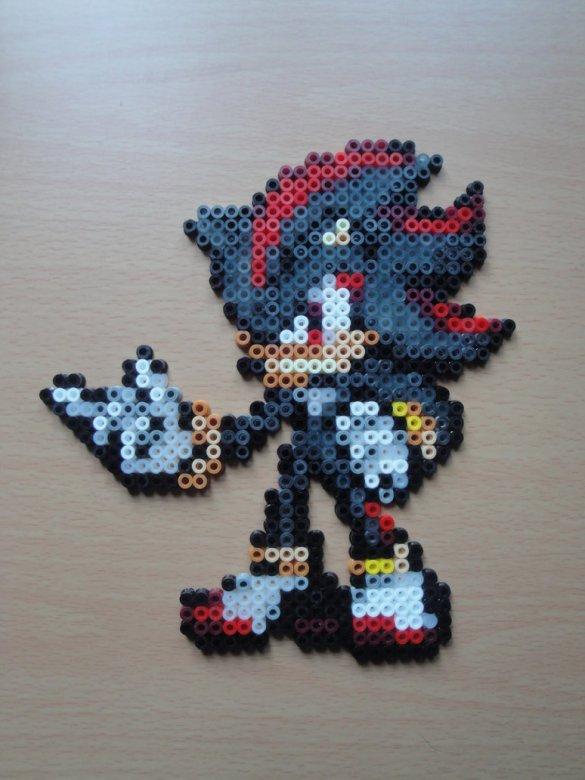Hama Beads De Sonic Consola Y Tablero