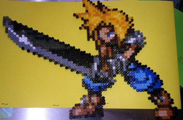 Hama beads Final Fantasy Cloud