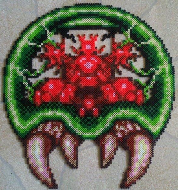 Hama Beads Larva Metroid