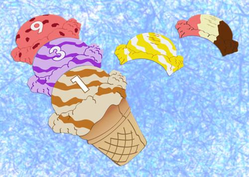 Ejemplo de cómo montar un helado.