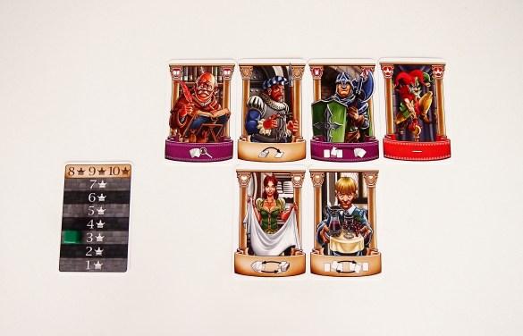 Si un jugador consigue jugar todas las cartas de su mano sin que se repita ningún personaje, recibe tres puntos.