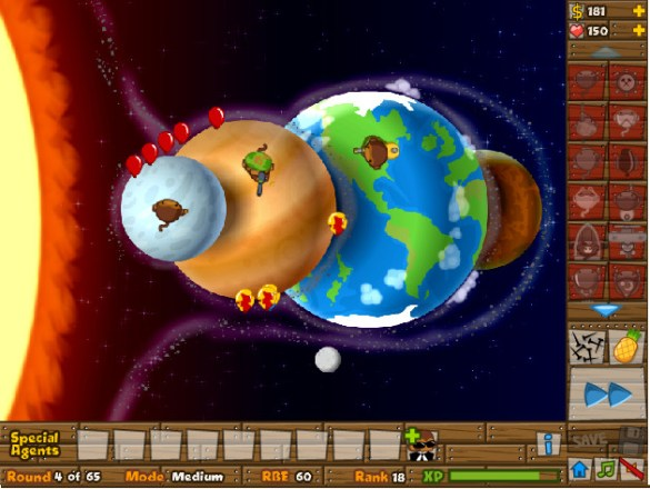 Bloons Tower Defense espacio