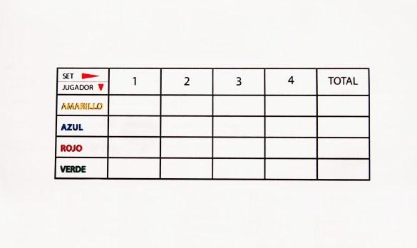 Una partida se compone de 3 ó 4 sets. En ellos, no solo obtiene puntos el ganador, por lo que el vencedor final no tiene por qué haber ganado ninguno.