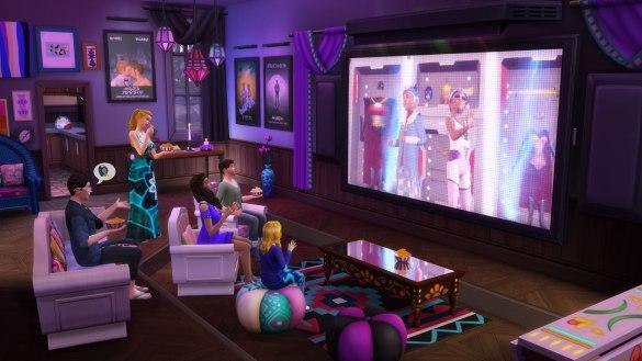 Los Sims 4 Noche de Cine