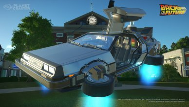 Planet Coaster Regreso al Futuro