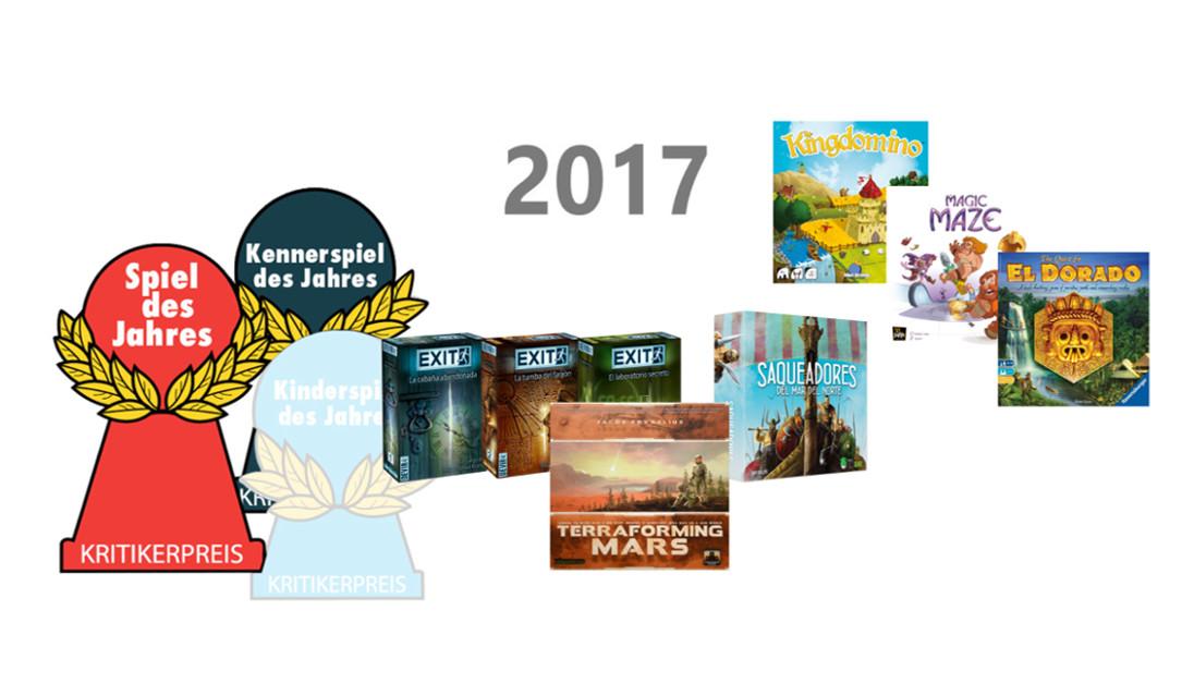 Ya hay ganadores al Spiel des Jahres y al Kennerspiel des Jahres 2017