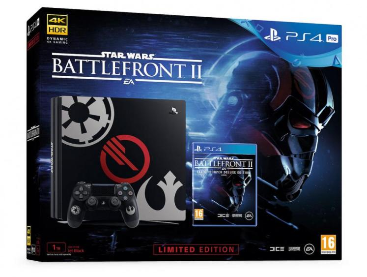 edición limitada de PS4 y Star Wars Battlefront II para PS4