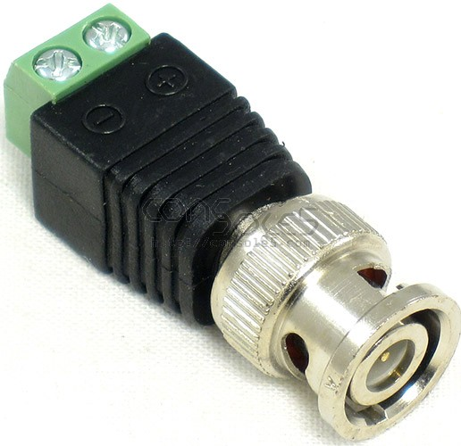 Bnc Male Connector To Terminal Twisted Pair Adapter Sku Bnc