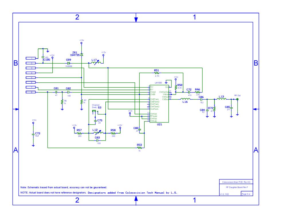 medium resolution of colecovision main pcb schematic rev h2 1
