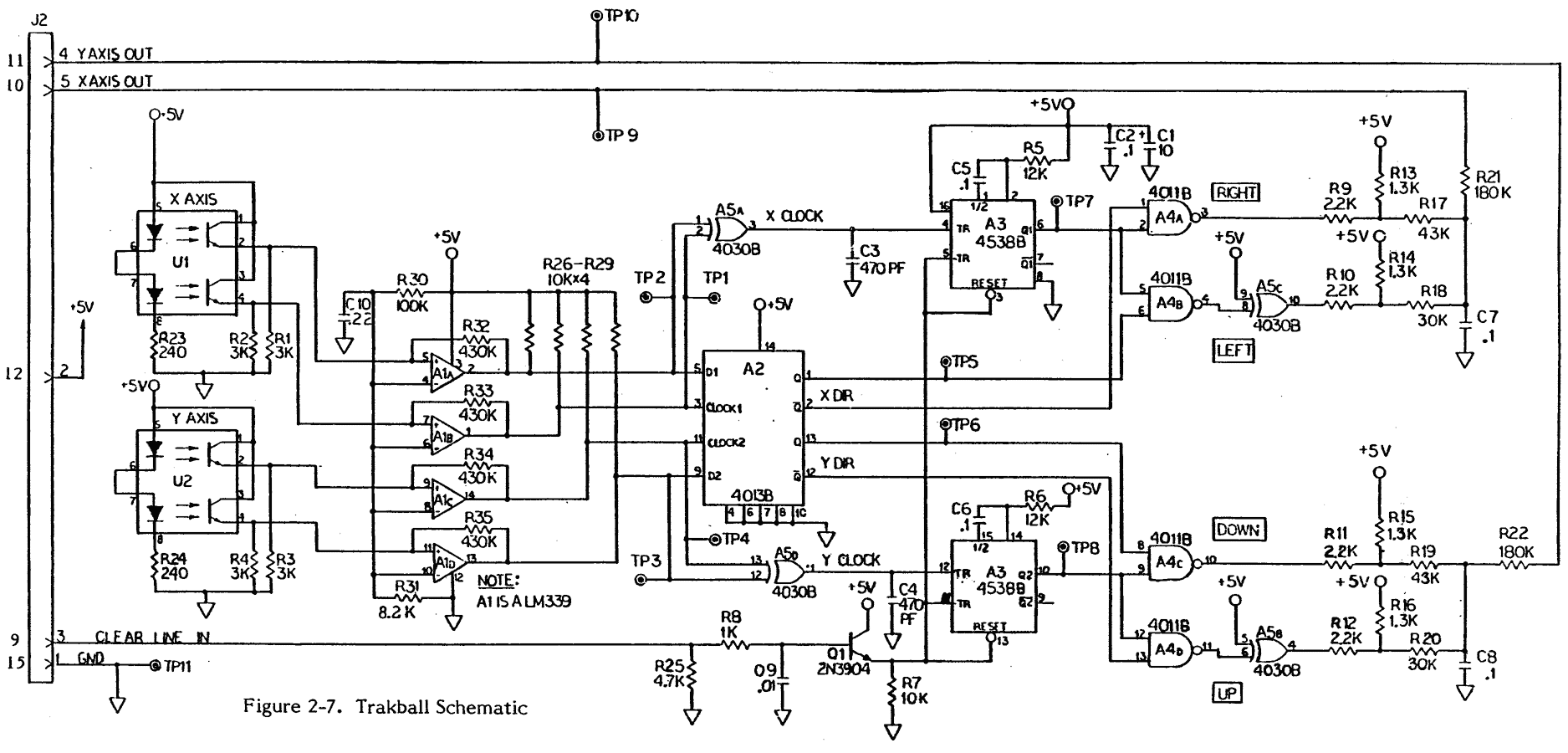 Trackball Mouse Schematic