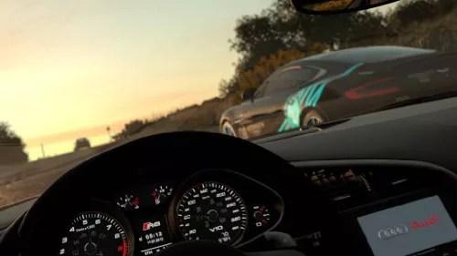 Driveclub sur PS4 vue cockpit