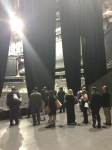 The group touring the facility