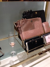 Pink champagne paired with accessories