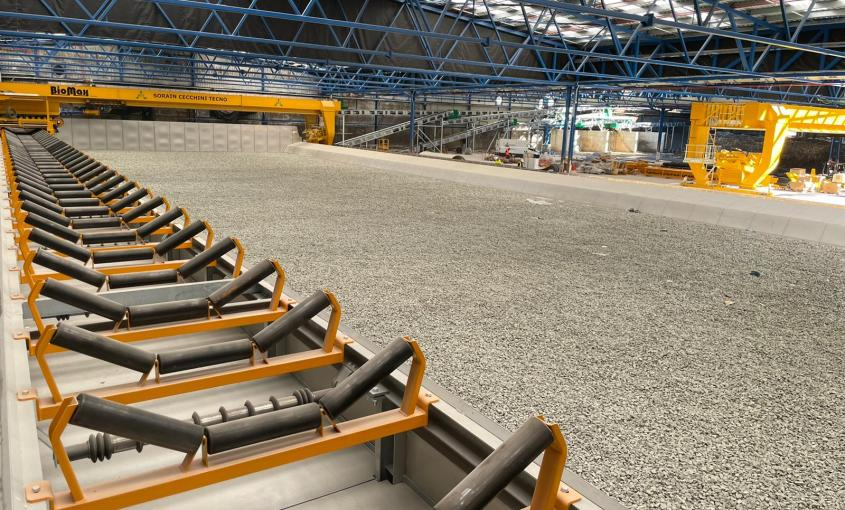 Instalación de maquinaria para el compostaje de la materia orgánia