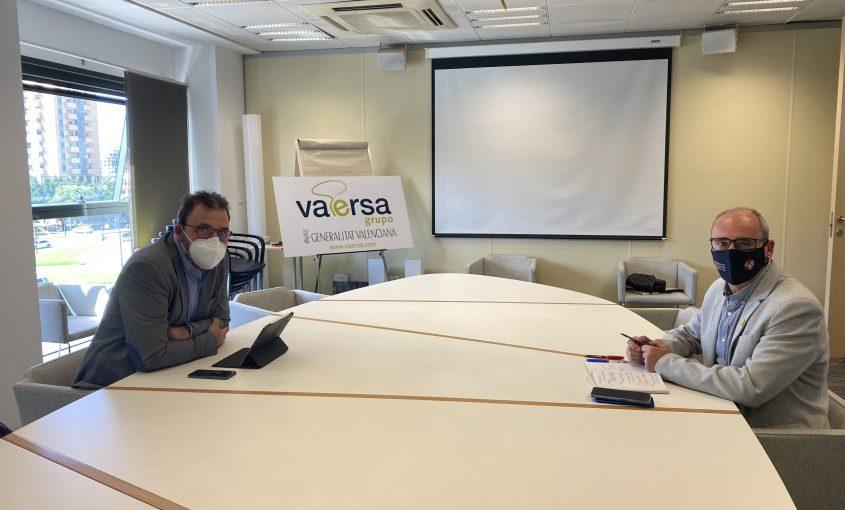El presidente del Consorci Mare junto al director general de Vaersa durante la reunión