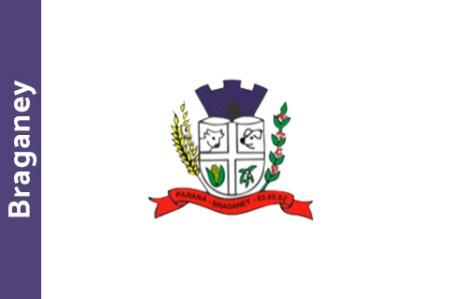 braganey bandeira brasao cidade parana