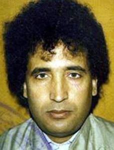 Libyan agent Ali al-Megrahi, who was convicted by a Scottish tribunal for the bombing of Pan Am 103 over Lockerbie, Scotland, in 1988. Megrahi, who always asserted his innocence, died in 2012.