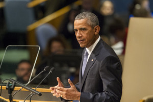 U.S. President Barack Obama addresses the United Nations General Assembly on Sept. 28, 2015. (Photo credit: United Nations.)