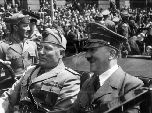 Adolf Hitler and Benito Mussolini in Munich, Germany, ca. June 1940 (Flickr)